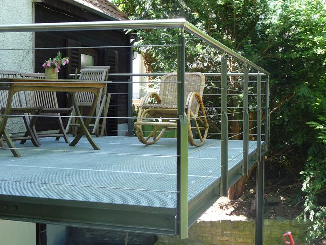 Stahl Terrasse stahlterrassen berlin - maßgefertigte terrasse für haus und garten